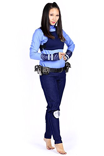 De-Cos Zootopia Cosplay Costume Officer Judy Hopps Police Uniform Outfit Set V1