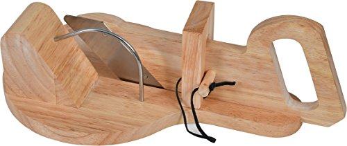 Ghigliottina affetta salame in legno | affettatrice manuale taglia salame e insaccati | affettatrice salumi affettatutto | affettatrice piccola