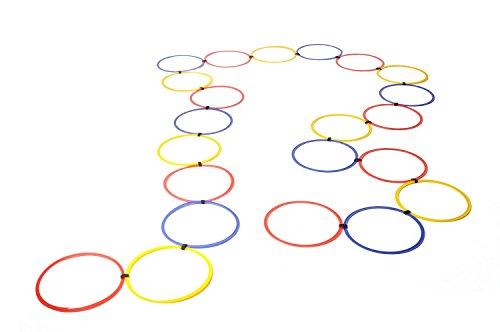 Agility Koordinationsreifen 22er Set Koordination Reifen Ringe rot/blau/gelb