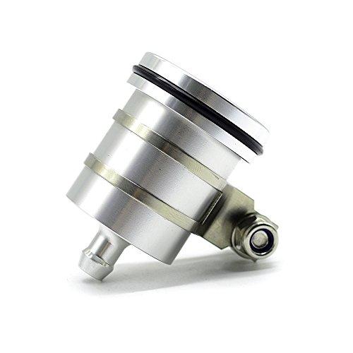 Universal Motorrad Bremsflüssigkeitsbehälter Öl Tasse für Duke 125 200 390 690 RC 125 200 390 YZF R1 R3 R6 R25 R125 FZ1 FZ6 FZ8 GSXR 600 750 1000 GSR 600 750 1000 (Silber) (200 Gsxr 600)