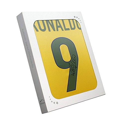Exclusive Memorabilia Ronaldo de Lima Signed 1998-00 Brazil Home Shirt In Gift Box