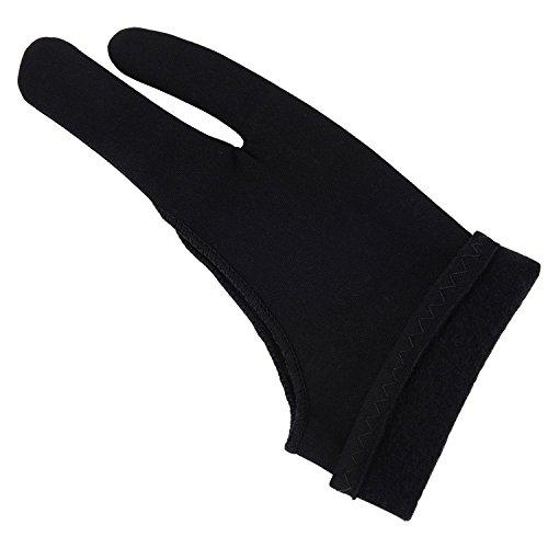 Anti-handschuh (Verdickter Künstler Handschuhe Tablet Malen Handschuh für Grafiktablett, Kunstschaffen und Ipad Pro Bleistift, Schwarz)