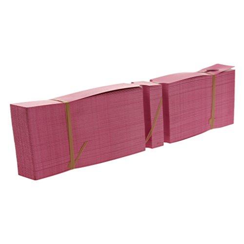 MagiDeal 200pz Marcatori in Plastica per Piante in Vaso Da Giardino Tag Vivaio Etichette - Rosa rosso