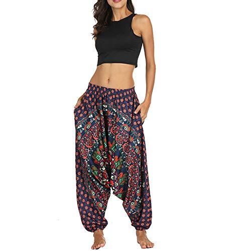 Felicove Unisex Leggings, Männer Lässige Yogahose Winter Frauen Lose Yoga Pants Baggy Boho Aladdin Haremshose High Wasit Leggings Damen Stretch Leggings Fell Nylon Parka