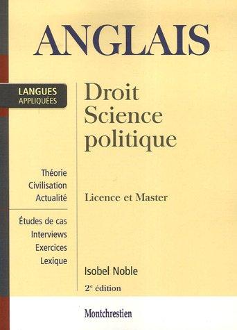 Anglais appliqué : Droit, Science politique, Licence et Master