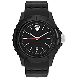 Ibiza Rocks Irock Unisex Quartz Watch with Black Dial Analogue Display and Black Plastic Strap 0.93.0503