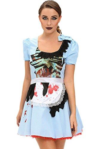 Fortuning's JDS Zombie Kansas Mädchen Kurzarm Erwachsene Halloween Kostüm (Vogelscheuche Kleinkind Kostüme)