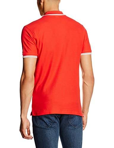 Fruit of the Loom Herren Poloshirt Rot - Red (Red/White)
