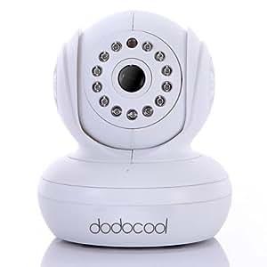 dodocool® Wireless WiFi IP-Kamera 13 IR LED Nachtsicht Dual Audio Webcam,weiß