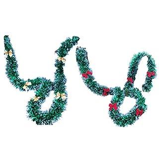 STOBOK 6 Piezas de guirnaldas de Navidad festoneadas guirnaldas de Navidad decoración Franja de Navidad guirnaldas de guirnaldas metálicas serpentinas decoración de Fiesta Brillante Brillante