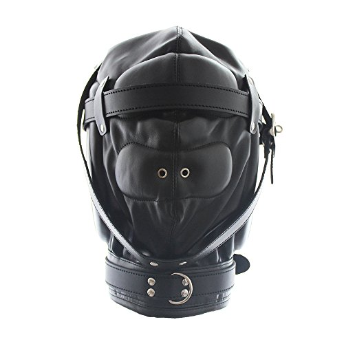 ssern spaß perücken Krawatte Paare Spielzeug Flirt Masken atmungs sm Spiel Dog Limit bindung,Black ()