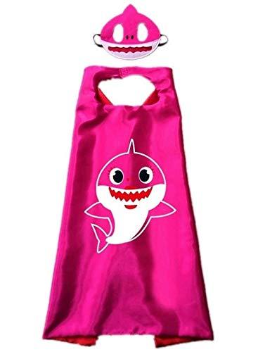 Xinqin Ding Shark Umhänge und Masken Shark Umhänge Shark Dress up Kostüm Birthday Party Supplies für Kinder & Kleinkinder - Shark Kleinkind Und Kinder Kostüm