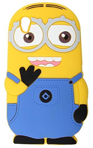 RGSG 3D Cartoon Minion Soft Rubber Silicone Back Case Cover for Vivo Y51/Y51L (Yellow)