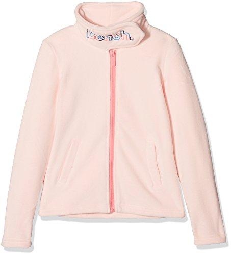 Bench Mädchen Sweatjacke Funnel Fleece, Rosa (Pink Salt PK11479), 140 (Herstellergröße: 9-10)