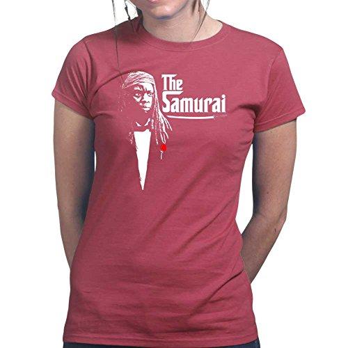 WomensTheSamuraiZombieSlayerLadiesT Shirt(Tee,Top)MRN Small Maroon