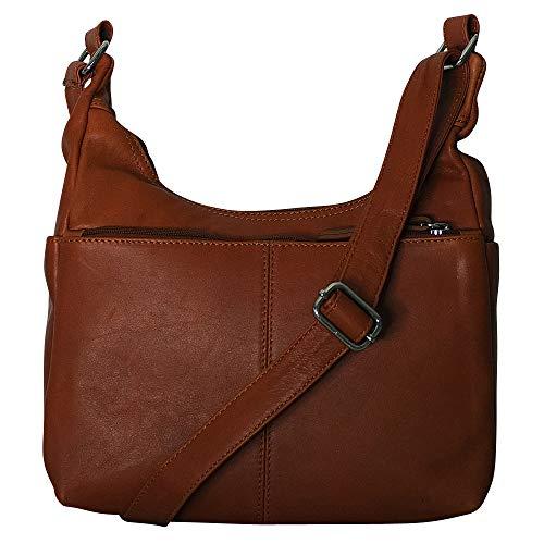 Chapeau-tendance - Sac bandoulière cuir camel Elise - - Femme e73186d5cb6