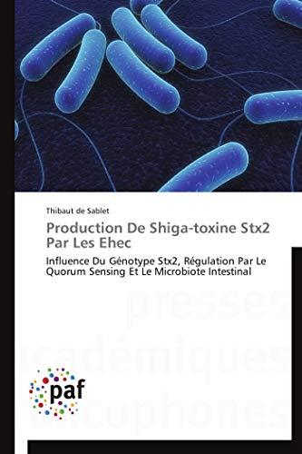 Production De Shiga-toxine Stx2 Par Les Ehec: Influence Du Génotype Stx2, Régulation Par Le Quorum Sensing Et Le Microbiote Intestinal (Omn.Pres.Franc.)