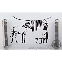 Banksy Zebra Stripes Wash Vinyl Wall Sticker 60cm x 90cm