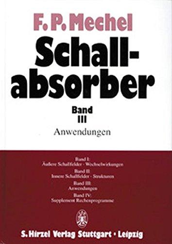 Schallabsorber, Bd.3, Anwendungen