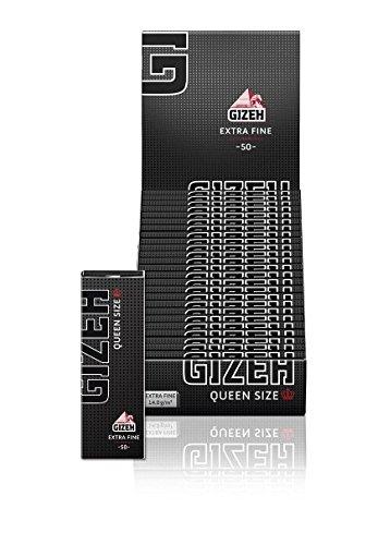 Gizeh Black' Papers Queen Size Extra Fine - Box mit 25Heften je 50Blatt