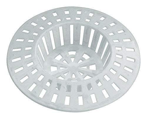 Home Xpert 2er Set Abflusssieb, Spülbeckensieb, Sieb für Dusche, Haarfangsieb, Haarsieb, Ø 60 mm, weiß (Kleine Kunststoff-waschbecken)