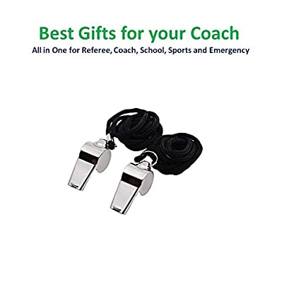Golvery Metal Referee Coach Whistle,Stainless Steel Whistle with Lanyard for School Sports, Soccer, Football, Basketball… 6