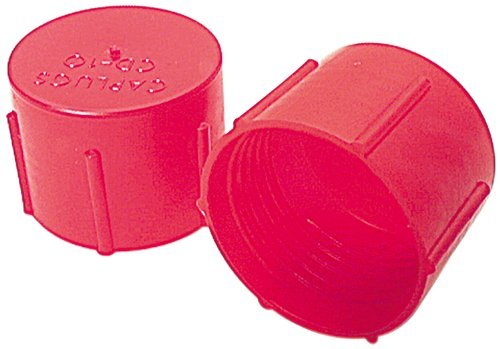 Allstar ALL50805 Red Plastic Fitting Cap for -10AN and 7/8-14 Thread, (Pack of 10) by Allstar