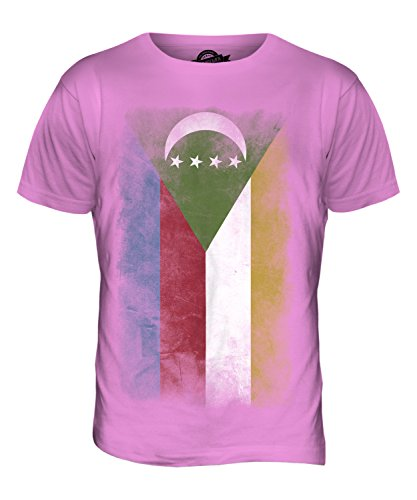CandyMix Komoren Verblichen Flagge Herren T Shirt Rosa