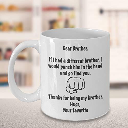Kaffeebecher für Bruder von Schwester, Bruder, Elder Bruder, Geschenk für Erwachsene, jüngere...
