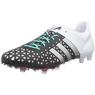 adidas Herren Ace 15.1 Fg/AG Fußballschuhe, Schwarz (Core Black/Matte Silver/FTWR White), 40 2/3 EU