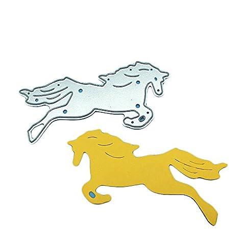 Enipate Horse Metal Cutting Dies for Scrapbook Album Invitation Home Decoration Embossing Stencils Cut