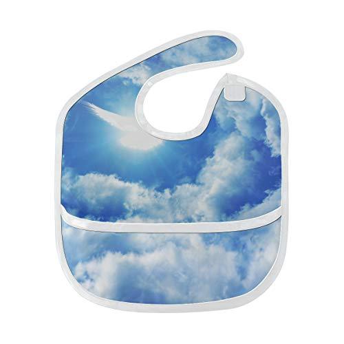Heiliger Geist Fliegen Vogel Benutzerdefinierte Weiche Wasserdichte Fleck Geruchsresistent Baby Fütterung Dribbeln Sabbern Lätzchen Spucktücher Für Kleinkinder Insgesamt Für 6-24 Monate Kind Geschenk