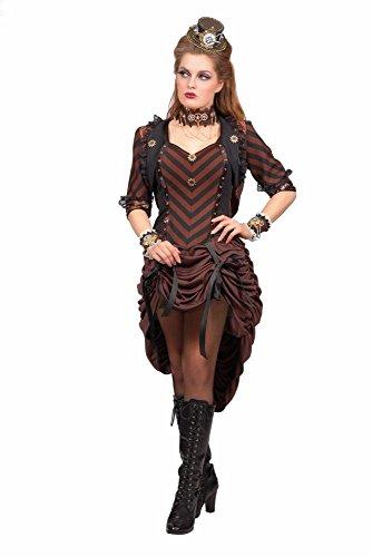 Damen Kostüm Western Saloon Girl Steampunk Karneval Fasching (Damen Erwachsene Für Girl Steampunk Kostüme)