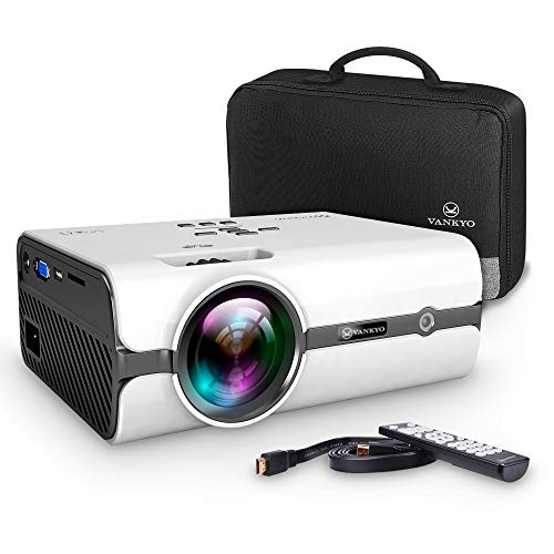 41c%2BMJ1EkJL. SS500  - VANKYO L410 Portable Mini Projector, 4800 Lumens Video Projector Support 1080P and 176'' Display w/ 50,000 Hrs Lamp Life, Compatible w/ Smartphone, TV Stick, PS4, HDMI, VGA, TF, AV and USB, XBOX