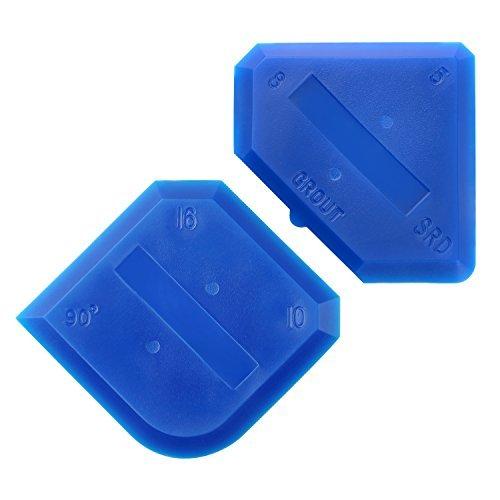 2 pezzi strumento di sigillante in silicone sealant tool spatola per silicone per cucina bagno piano sigillante di tenuta, blu