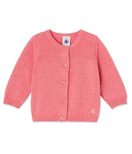 Petit Bateau Baby-Mädchen Strickjacke Cardigan, Rosa (Gelato 56), 80 (Herstellergröße: 12m/74cm)