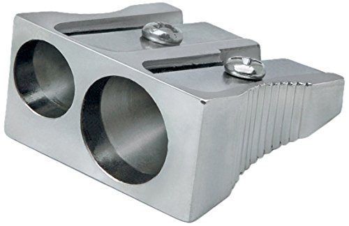 Rapesco Accesorios - Sacapuntas tradicional metalico de 2 agujeros