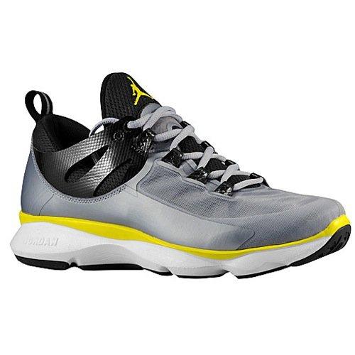 unner Laufschuhe Sneaker silber/schwarz/gelb/weiß, Schuhgröße:EUR 47 (Jordan Flight Silber)