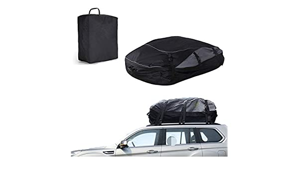HI SUYI Waterproof Rooftop Cargo Carrier Bag Luggage Rack for SUV Car Van with 6 Straps-Works and Without Roof 15//20//28 Cubic Feet