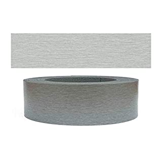 Mprofi (5 m Roll) Pre Glued Iron on Melamine Edging Tape with Hot Melt Stainless Steel 45 mm