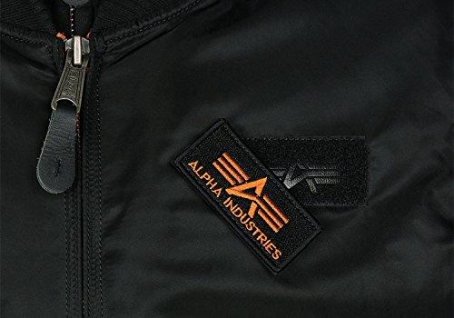 "Alpha Industries Herren Fliegerjacke ""MA-1 D-TEC SE"" black/grey Schwarz"