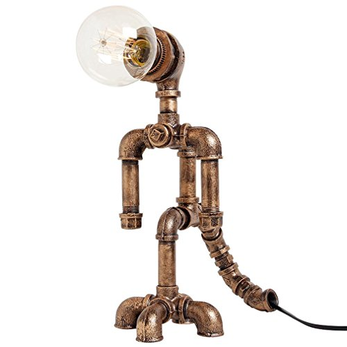 GRFH Retro industriale creativo tubo Robot Lamp