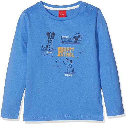 s.Oliver Baby-Jungen Langarmshirt 65.809.31.8183, Blau (Blue 5511), 80