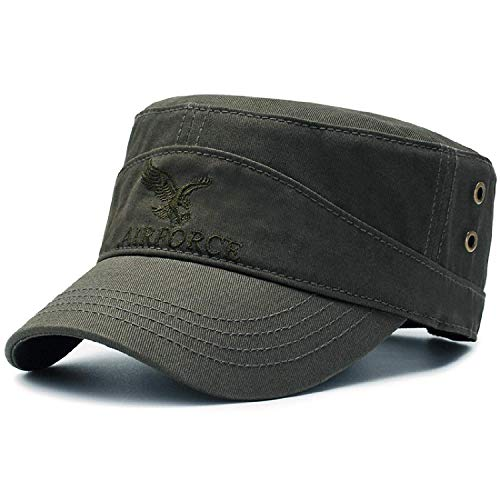 HASAGEI Army Military Cap Flatcap Vintage Baumwolle Baseball Cap Baseballmütze Kappe Fashion Army Cap
