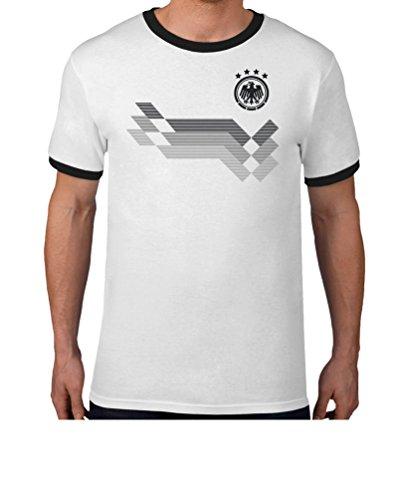 Maglia uomo - coppa del mondo -fan germania t-shirt maglietta uomo large bianco/nero