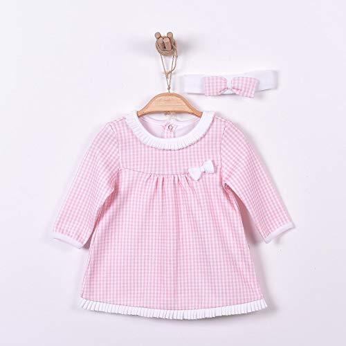 507391c46f130 Sevira Kids - Robe bébé et bandeau en coton bio de 3 mois à 2 ans