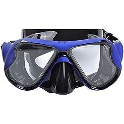 ERTO Masque de Plongee Lunettes De Silicone Masque De PlongéE IntéGré Masque De PlongéE Snorkeling Professionnel Adulte
