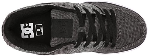 DC Men's Pure TX SE Skate Shoe, Grey/Grey/White, 10 M US Grey/Grey/White