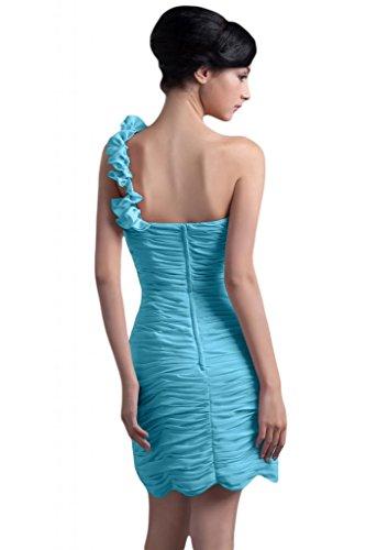 Sunvary donna in Chiffon Una spalla Fodero Birdesmaid corto da Cocktail Party Gowns Blue