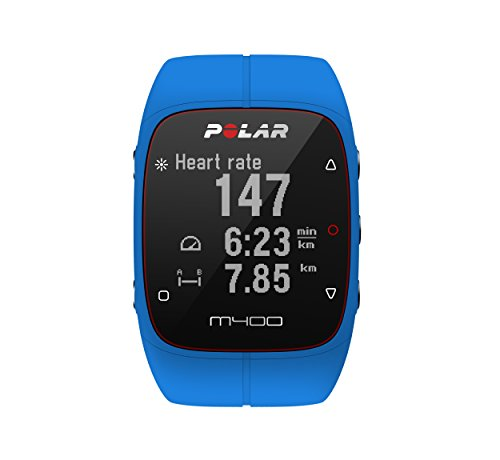 Polar M400 GPS Watch – Without Heart Rate Monitor, Blue